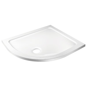 Offset Quadrant Shower Tray Without Riser Kit, 1000x800 Mm, Left Hand