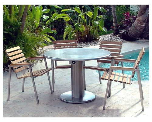 Teppanyaki Grill Tables ROUND   Outdoor Products