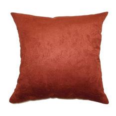 "Fabrizia Plain Pillow Rust, 24""x24"""