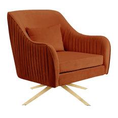 Paloma Cognac Velvet Accent Chair Cognac