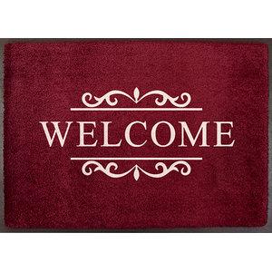 Easy Clean Bordeaux Welcome Doormat