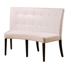 Perfect Modus Furniture International Inc   Modus Bossa Dining Height Leatherette  Banquette   White   Dining Benches