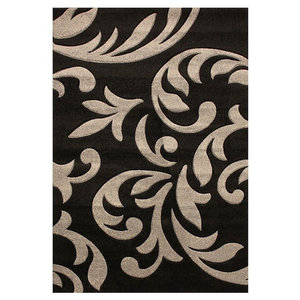 Couture Rug, Black and Grey, 200x290 cm