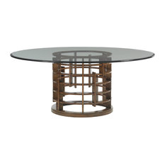 Meridien Dining Table With 72-Inch Glass Top