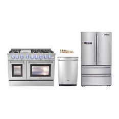 Thor Kitchen 3 Piece 48 Gas Range Dishwasher And Refrigerator Propane