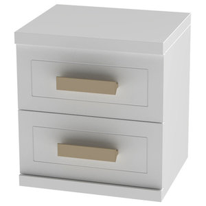 Aura Bedside Table, 2 Drawers