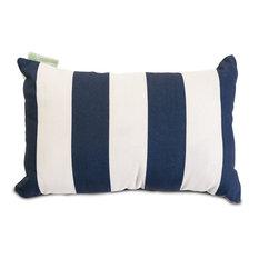 Vertical Striped Pillow, Navy Blue