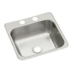 """Sterling B155-2 15"""" Single Basin Drop In Stainless Steel Bar Sink - Stainless"""