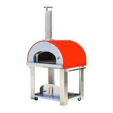 Grande36 Portable Wood Fired Pizza Oven Cart, Red