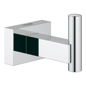 StarLight Chrome GROHE 40510001 Essentials Cube Metal 7.48-in Towel Ring