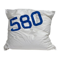 Recycled Sail Maxi Bean Bag, White and Blue