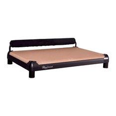doggysnooze snoozesleeper anodized frame memory foam 1 bolster blk dog beds