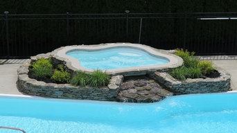 Fiberglass Spa added to existing pool