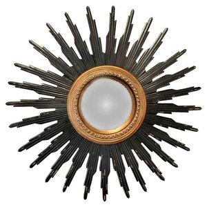 EMDE Convex Soleil Mirror, Black and Gold, Large