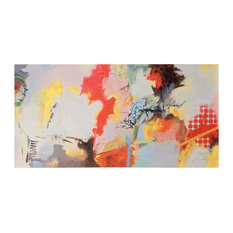 Abstract Art, Canvas Print with Handpainting