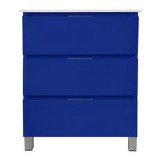 Eviva Malmo 32-inchx14-inch Freestanding Marino Blue Bathroom Vanity