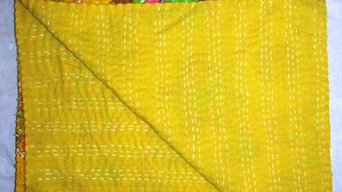 Yellow Color Kantha Quilts