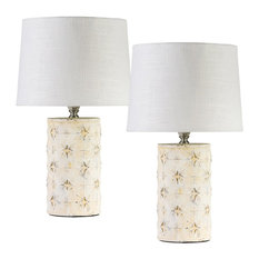 Midcentury Star Table Lamps, Set of 2