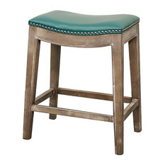 New Pacific Direct Elmo Bonded Leather Counter Stool Mystique Gray Frame