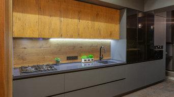 Общий вид кухни со стороны входа в помещение