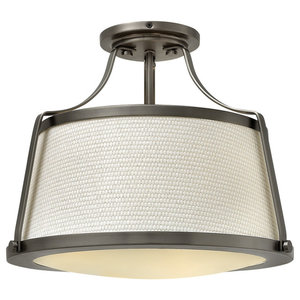 Charlotte Refined Semi-Flush Ceiling Light, Antique Nickel