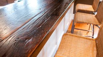 Reclaimed Pine Breakfast Bar