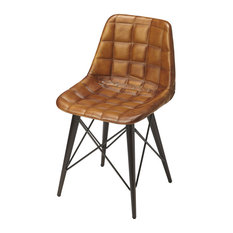 Butler Patty Brown Leather Side Chair