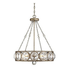 Warwick 5-Light Chandelier, Brittania Gold