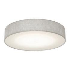 Ashland LED Flush Mount, Gray Linen, Large