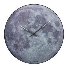 NeXtime - Glow in the Dark Blue Moon Dome Clock - Children's Clocks