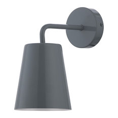 Pot Wall Light, Grey and Glossy White