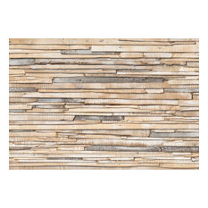 Whitewashed Wood Modern Photo Wall Mural, 368x254 cm