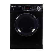All-in-one 1200 RPM New Version Compact Convertible Combo Washer Dryer in, Black