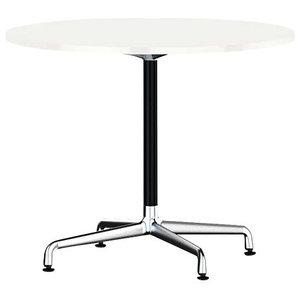 Eames Round Table by Herman Miller, Universal Base, Studio White Laminate, Black