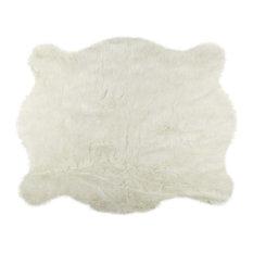 5.25'x7.5' Polar Bear Faux Hide Area Rug