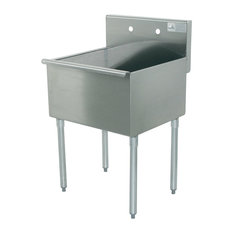A Line By Advance Tabco   2 Compartment Free Standing Utility Sink, 48