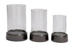 "GwG Outlet Aluminium Glass Huricane Set of 3, 9"", 11"", 13"""