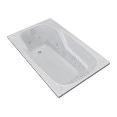 Troy 36 x 60 Rectangular Air & Whirlpool Jetted Drop-In Bathtub w/ Right Drain