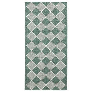 Dialog Woven Vinyl Floor Cloth, Green, 150x150 cm