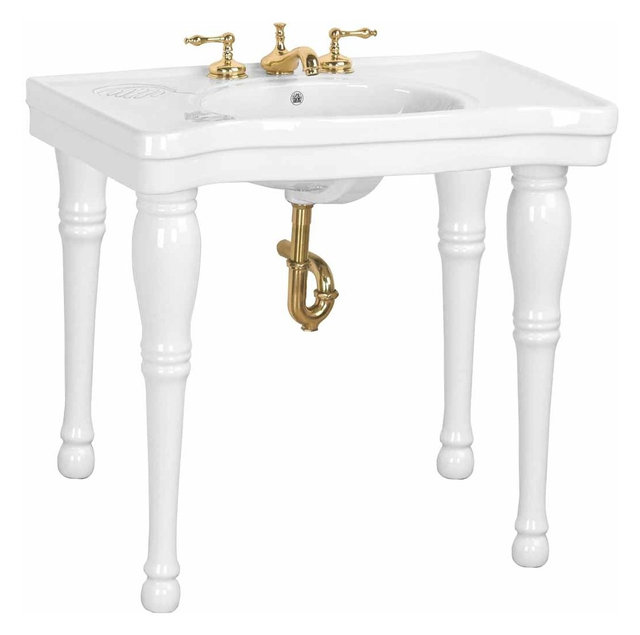 Console Sinks Black Belle Epoque Sink 4 Spindle Legs