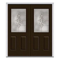 "Heirloom Master 1/2 Lite 2-Panel Steel, Brown, 66""x81.75"", Right"
