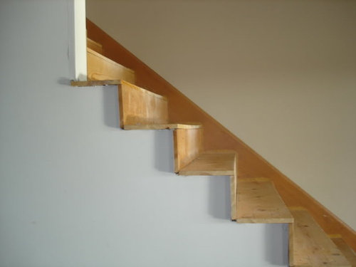 Installing Wood Stairs...how To Trim Sides