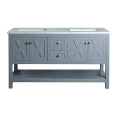 Jess Double Vanity, Gray, 60""