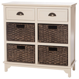 Libra Off-White Chest, 6 Drawers