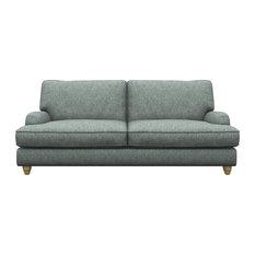 Prague 3-Seater Sofa, Duck Egg