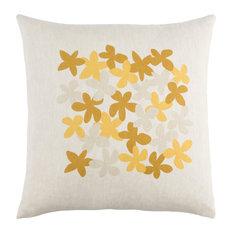Little Flower Pillow 18x18x4, Down Fill