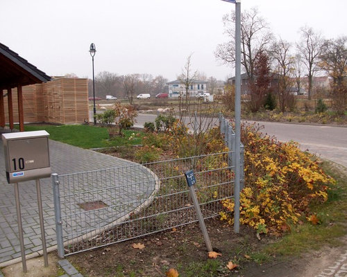 vorgarten mit gabionen, Garten und Bauen