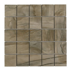 """12""""x12"""" Fossil Mosaic Tile, Nut"""