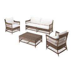 Camille Four-Piece Outdoor Lounge Set, Bronze