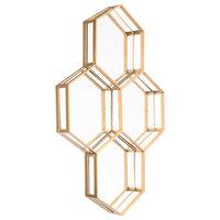 Honeycomb Mirror, Gold